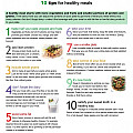 Top 10 tips for a healthy meal